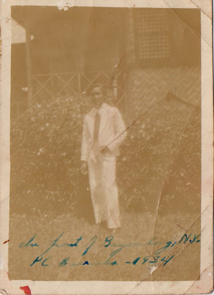 Picture of Jose Sibayan in Bayombong, Nueva Vizcaya 1934