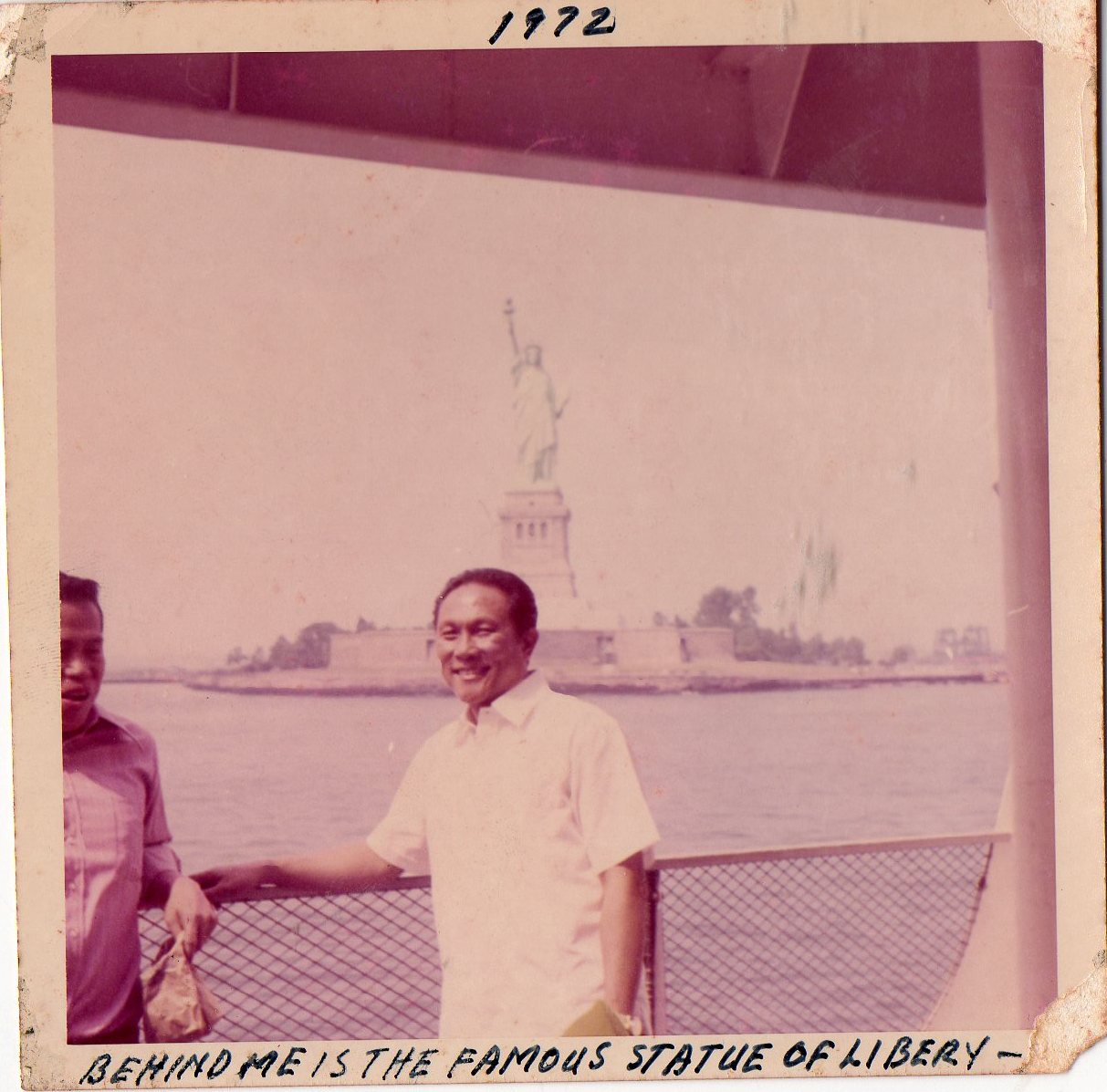 Picture of Jose Sibayan at the Statue of Liberty
