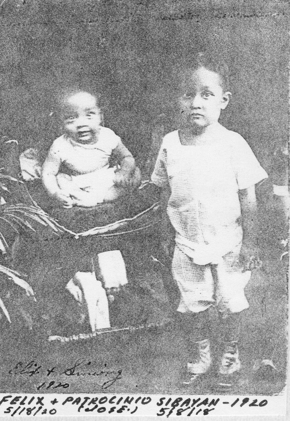 Picture of Patrocinio and Felix Sibayan 1920