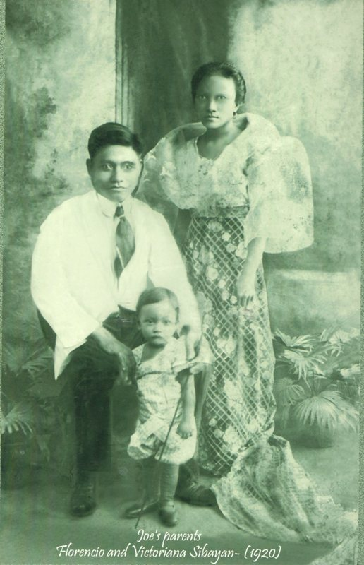 Picture of Florencio, Victoriana, & Siniong Sibayan 1920